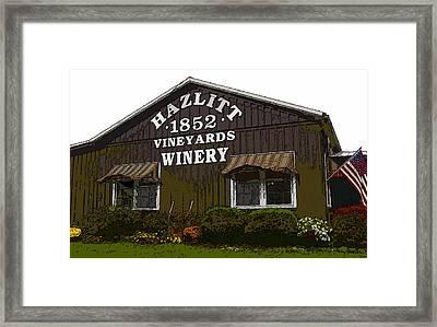 Hazlitt Winery 1852 Framed Print