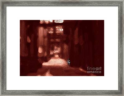Hazy Alley Framed Print by John Rizzuto