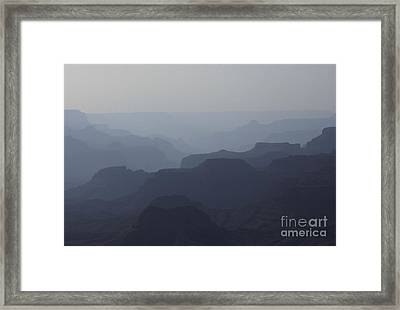 Hazy Canyon Framed Print by Erica Hanel