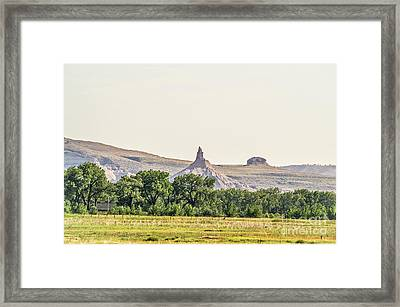 Framed Print featuring the photograph Hazy Chimney Rock by Sue Smith