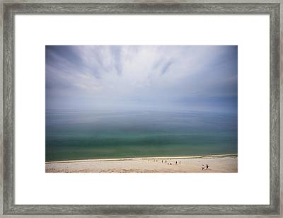 Hazy Day At Sleeping Bear Dunes Framed Print