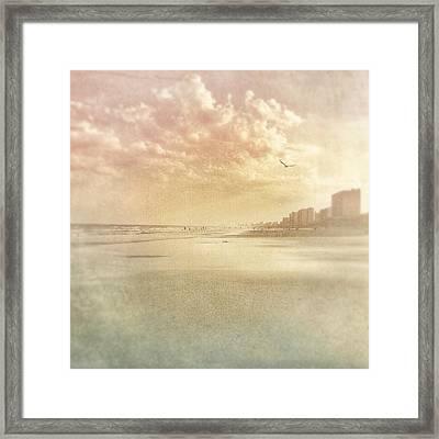 Hazy Day At The Beach Framed Print