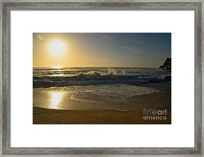 Hazy Golden Sunrise By Kaye Menner Framed Print by Kaye Menner