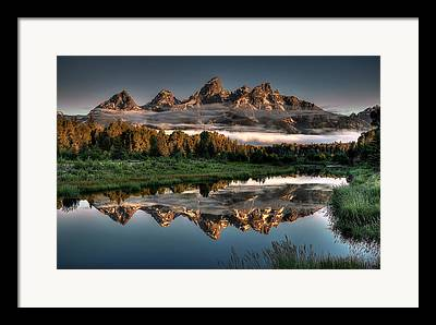 Mountain Cabin Framed Prints