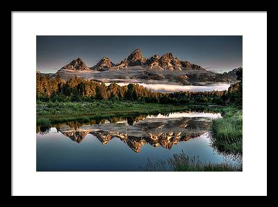 Mountain Reflection Framed Prints