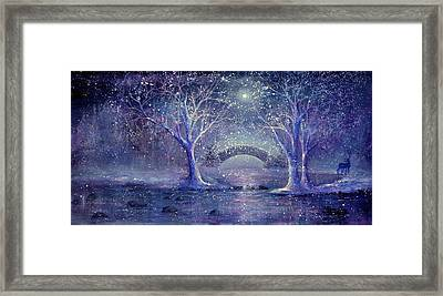 Hazy Shade Of Winter Framed Print by Ann Marie Bone