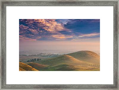 Hazy Sunrise Framed Print