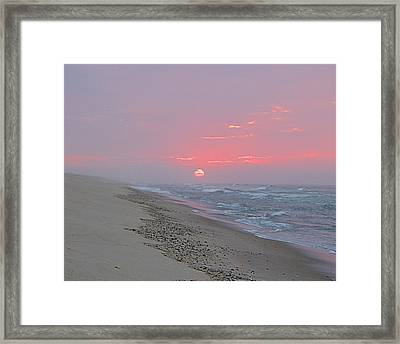 Framed Print featuring the photograph Hazy Sunrise by  Newwwman