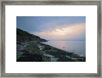 Hazy Sunset Framed Print