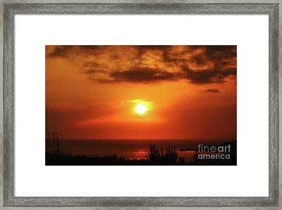 Hazy Sunset In Golden Bay Framed Print by Stephan Grixti