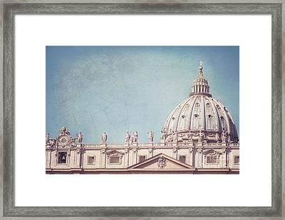 Hazy Vatican Sun Framed Print by Sonja Quintero