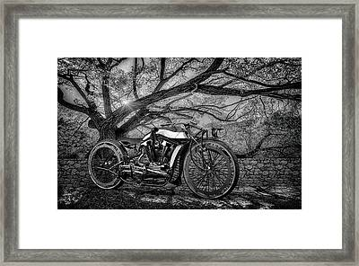 Framed Print featuring the photograph Hd Cafe Racer  by Louis Ferreira