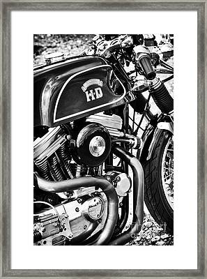 Hd Cafe Racer Monochrome Framed Print by Tim Gainey