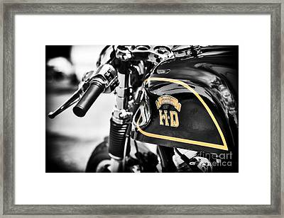 Hd Cafe Racer Framed Print by Tim Gainey
