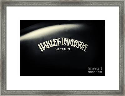 Hd Iron 883 Gas Tank Framed Print