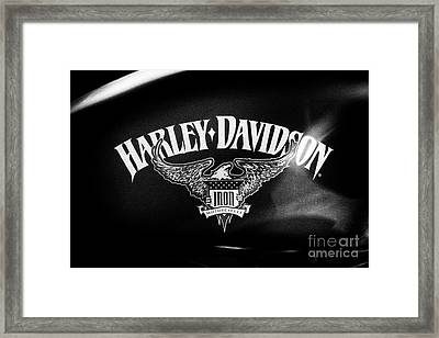 Framed Print featuring the photograph Hd Iron Motorcycles by Tim Gainey