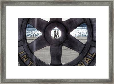 Hdr Beach Framed Print