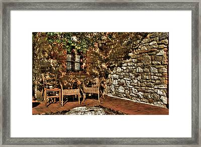 Hdr Chairs Framed Print