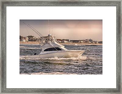 Hdr Fishing Boat Ocean Beach Beachtown Boadwalk Scenic Photography Photos Pictures Boating Sea Pics Framed Print by Pictures HDR