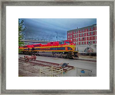 Hdr Fun With Trains Framed Print by Dustin Soph