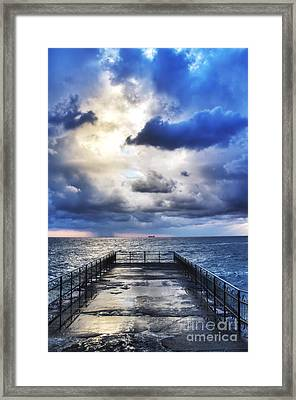 Hdr Pier Framed Print by Stefano Gervasio