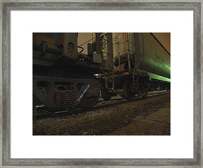 Hdr Rail Cars Framed Print by Scott Hovind