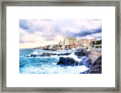 Hdr Seascape Framed Print by Stefano Gervasio
