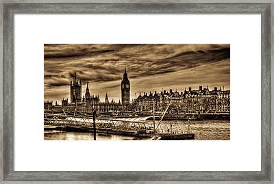 Hdr Sepia Westminster Framed Print