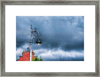 Hdr Street Lamp Framed Print by Andrea Barbieri