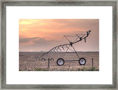 Hdr Sunset With Pivot Framed Print