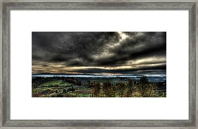 Hdr Tuscany Sunset Framed Print by Andrea Barbieri