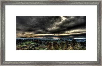Hdr Tuscany Sunset Framed Print