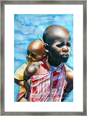 He Ain't Heavy...he's My Brother Framed Print by Gail Zavala