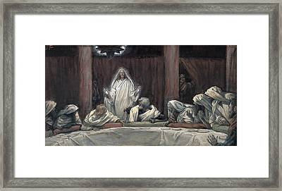 He Appeared To The Eleven Framed Print by Tissot