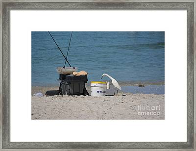He Brought Me Lunch Framed Print by Don Columbus