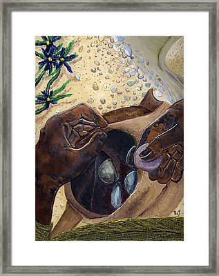 He Chose Him Five Smooth Stones Framed Print by Dan RiiS Grife
