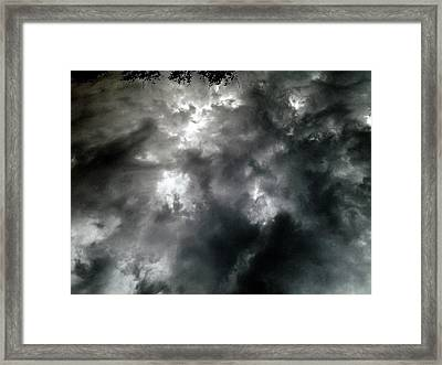 He Cometh With Clouds Framed Print by SeVen Sumet
