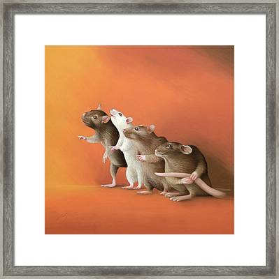 He Did It Framed Print