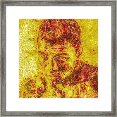 He Floated Like A Butterfly And Stung Framed Print