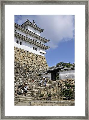 He Gate Himeji Castle Japanese Castles Doorway Gateway Japan Framed Print