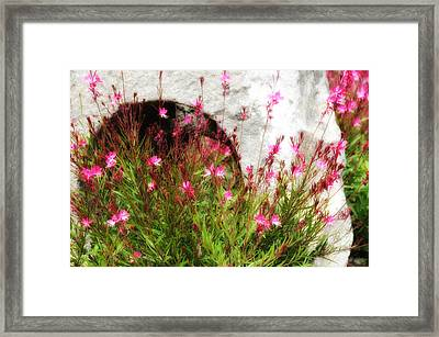 He Gives Us Rain Each Spring And Fall Framed Print by Deb Cohen