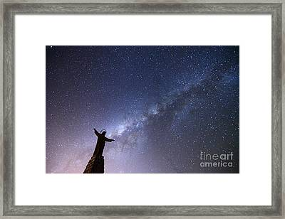 He Held The Stars In The Palm Of His Hand Framed Print by James Brunker