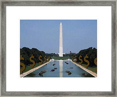 He Is Adding Alligators From Wall Street Framed Print by Edwin Alverio
