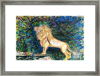 He Is Mighty To Save Framed Print