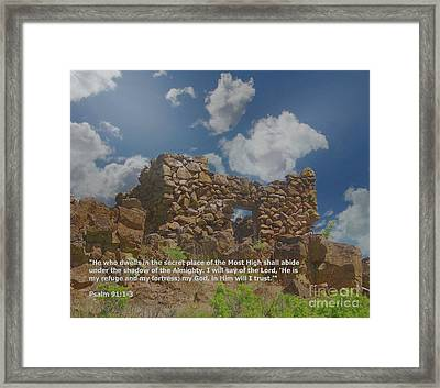 He Is My Refuge And My Fortress Framed Print