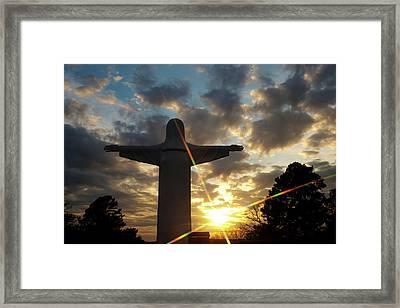 He Is Risen - Christ Of The Ozarks - Eureka Springs Arkansas Framed Print by Gregory Ballos