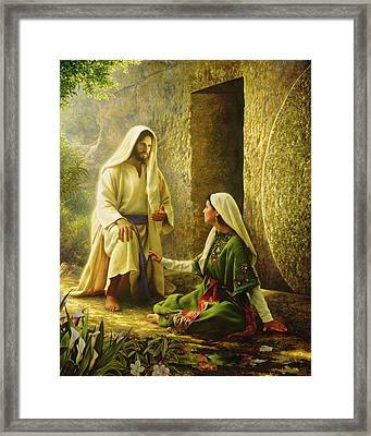 He Is Risen Framed Print by Greg Olsen
