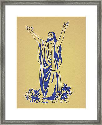 He Is Risen Framed Print by Marsha Elliott