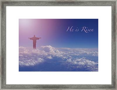 He Is Risen Framed Print by Art Spectrum