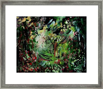 He Lights Our Path Framed Print by Ellen Seymour